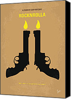 Guy Digital Art Canvas Prints - No071 My rocknrolla minimal movie poster Canvas Print by Chungkong Art