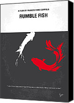 Rusty Digital Art Canvas Prints - No073 My Rumble fish minimal movie poster Canvas Print by Chungkong Art