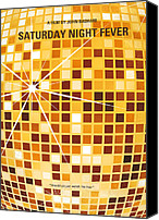 Tony Canvas Prints - No074 My saturday night fever minimal movie poster Canvas Print by Chungkong Art