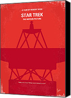 Original Digital Art Canvas Prints - No081 My Star Trek 1 minimal movie poster Canvas Print by Chungkong Art