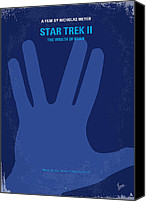 Original Digital Art Canvas Prints - No082 My Star Trek 2 minimal movie poster Canvas Print by Chungkong Art