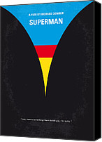 Original Digital Art Canvas Prints - No086 My Superman minimal movie poster Canvas Print by Chungkong Art