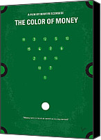 Hall Canvas Prints - No089 My The color of money minimal movie poster Canvas Print by Chungkong Art