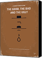 Clint Eastwood Canvas Prints - No090 My The Good The Bad The Ugly minimal movie poster Canvas Print by Chungkong Art