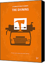 Orange Digital Art Canvas Prints - No094 My The Shining minimal movie poster Canvas Print by Chungkong Art