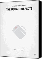 Minimalism Canvas Prints - No095 My The usual suspects minimal movie poster Canvas Print by Chungkong Art