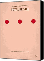 Original Digital Art Canvas Prints - No097 My Total Recall minimal movie poster Canvas Print by Chungkong Art