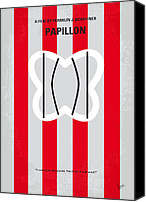 Minimalism Canvas Prints - No098 My Papillon minimal movie poster Canvas Print by Chungkong Art