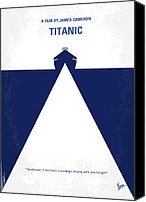 Minimalism Canvas Prints - No100 My Titanic minimal movie poster Canvas Print by Chungkong Art