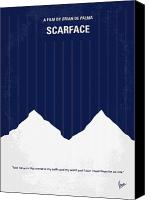 Montana Canvas Prints - No158 My SCARFACE minimal movie poster Canvas Print by Chungkong Art