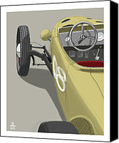 Car Drawings Canvas Prints - No.8 Canvas Print by Jeremy Lacy