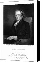 Flagg Canvas Prints - Noah Webster (1758-1843) Canvas Print by Granger