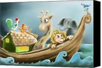 Noah Canvas Prints - Noahs Ark Canvas Print by Hank Nunes
