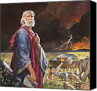 Noah Canvas Prints - Noahs Ark Canvas Print by James Edwin McConnell