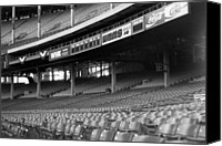 Cleveland Stadium Canvas Prints - Nobodys Home in Black and White Canvas Print by Kenneth Krolikowski