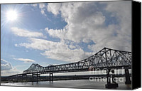 Orleans Pyrography Canvas Prints - NOLA Bridge Canvas Print by Amanda  Sanford