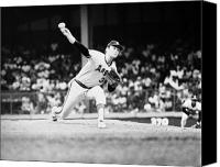 Detroit Tigers Canvas Prints - Nolan Ryan (1947- ) Canvas Print by Granger