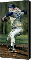 Texas Rangers Canvas Prints - Nolan Ryan Canvas Print by Rich Marks