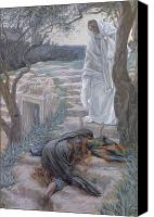 Magdalene Canvas Prints - Noli Me Tangere Canvas Print by Tissot