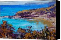 Signed Painting Canvas Prints - Norah Head Central Coast NSW Canvas Print by Graham Gercken