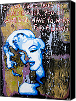 Norma Jean Canvas Prints - Norma Jean Canvas Print by Bobby Zeik