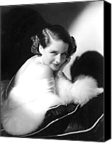 1930s Hairstyles Canvas Prints - Norma Shearer, Ca. 1930s Canvas Print by Everett