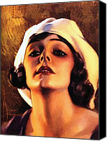 Pin-up Painting Canvas Prints - Norma Talmadge 1920 Canvas Print by Stefan Kuhn