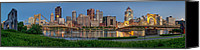 Steel City Canvas Prints - Norside Pano Canvas Print by Jennifer Grover