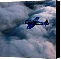 Harvard Digital Art Canvas Prints - North American Aviation T-6 Texan Canvas Print by Chris Lord