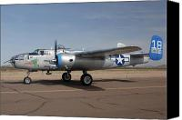 Casa Grande. Canvas Prints - North American B-25J Mitchell Maid in the Shade N125AZ Casa Grande Airport Arizona March 5 2011 Canvas Print by Brian Lockett