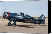 Casa Grande. Canvas Prints - North American NA-50 replica Lone Eagle N202LD Casa Grande Airport Arizona March 5 2011 Canvas Print by Brian Lockett