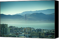 Mountains Canvas Prints - North Beach And Golden Gate Canvas Print by Hal Bergman Photography