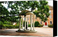 Well Canvas Prints - North Carolina A Students View of the Old Well and South Building Canvas Print by Replay Photos
