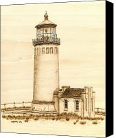 Lighthouse Pyrography Canvas Prints - North Head  Lighthouse Canvas Print by Nedra  Denison