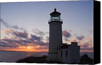 Lighthouse Canvas Prints - North Head Lighthouse Canvas Print by Terry  Wieckert