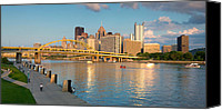 Pittsburgh Pirates Canvas Prints - North shore  Canvas Print by Emmanuel Panagiotakis