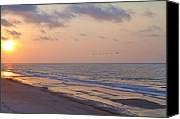 Topsail Island Canvas Prints - North Topsail Beach Glory Canvas Print by East Coast Barrier Islands Betsy A Cutler