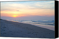 Topsail Island Canvas Prints - North Topsail Beach Serenity  Canvas Print by East Coast Barrier Islands Betsy A Cutler