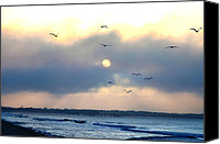 Jersey Shore Canvas Prints - North Wildwood Beach Canvas Print by Bill Cannon