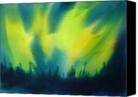 Night Sky Painting Canvas Prints - Northern Lights I Canvas Print by Kathy Braud