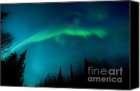 Aurora Borealis Canvas Prints - Northern Magic Canvas Print by Priska Wettstein