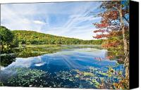 (c) 2010 Canvas Prints - Northern New Jersey Lake Canvas Print by Ryan Kelly
