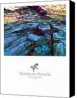 Ontario Mixed Media Canvas Prints - Northern Ontario Poster Series Canvas Print by Bob Salo