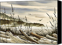 Driftwood Canvas Prints - Northwest Shore Canvas Print by James Williamson