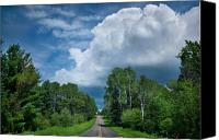Northern Photo Canvas Prints - Northwoods Road Trip Canvas Print by Steve Gadomski