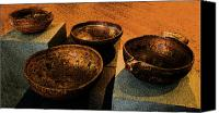 Wooden Bowls Canvas Prints - Norwegian Bowls Canvas Print by Nina Fosdick