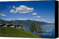Alpine Canvas Prints - Norwegian Countryside Canvas Print by Heiko Koehrer-Wagner