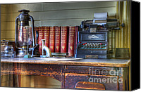 Typewriter Canvas Prints - Nostalgia Office Canvas Print by Bob Christopher