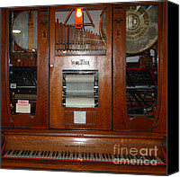 Ipod Canvas Prints - Nostalgic Wurlitzer Player Piano . 7D14400 Canvas Print by Wingsdomain Art and Photography