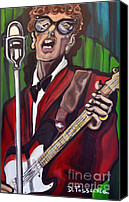 Epiphone Canvas Prints - Not Fade Away-Buddy Holly Canvas Print by David Fossaceca